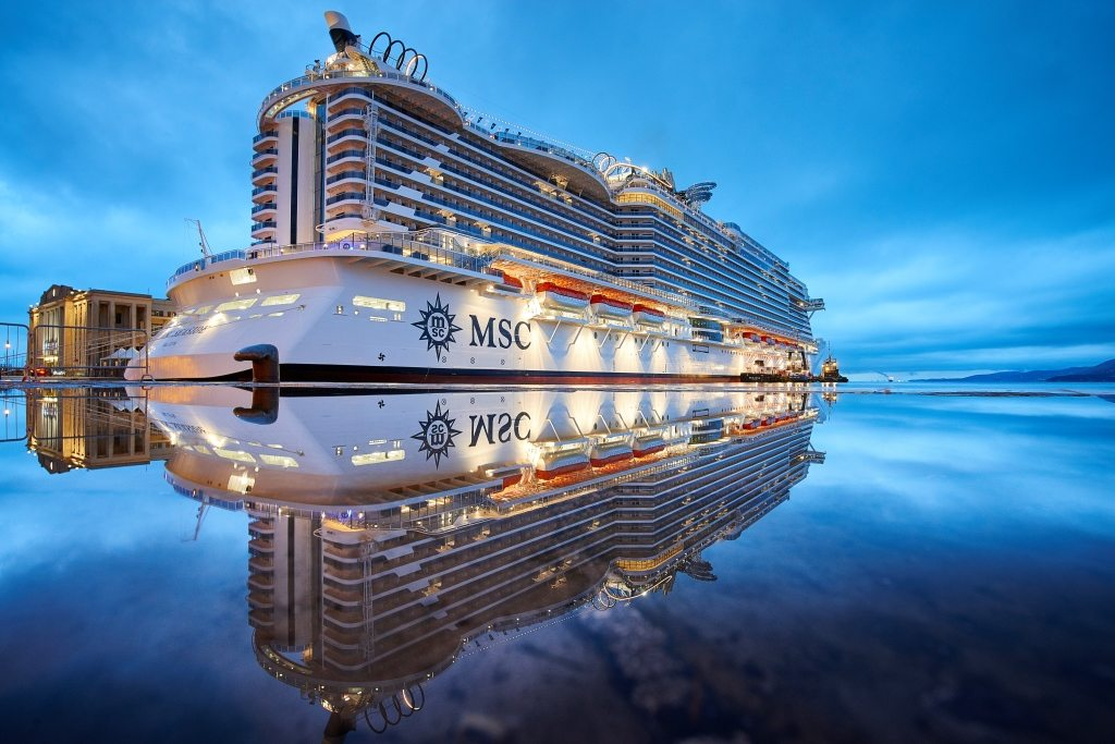 MSC Seaside ship in the sea