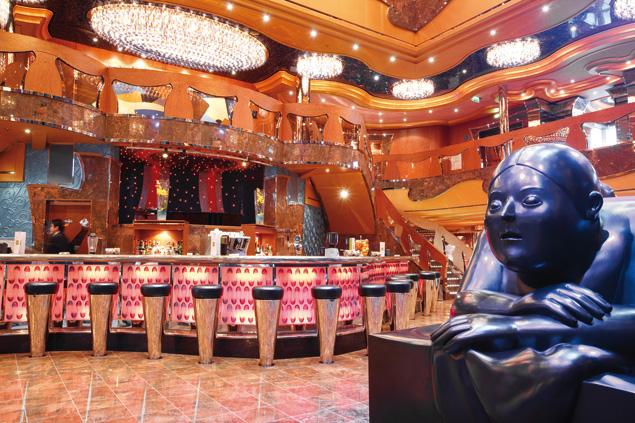 cruise ship lobby shiny