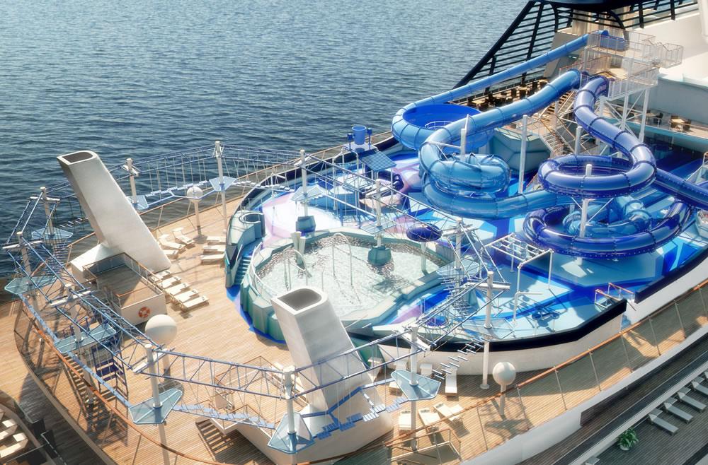 MSC Meraviglia waterpark aqua park